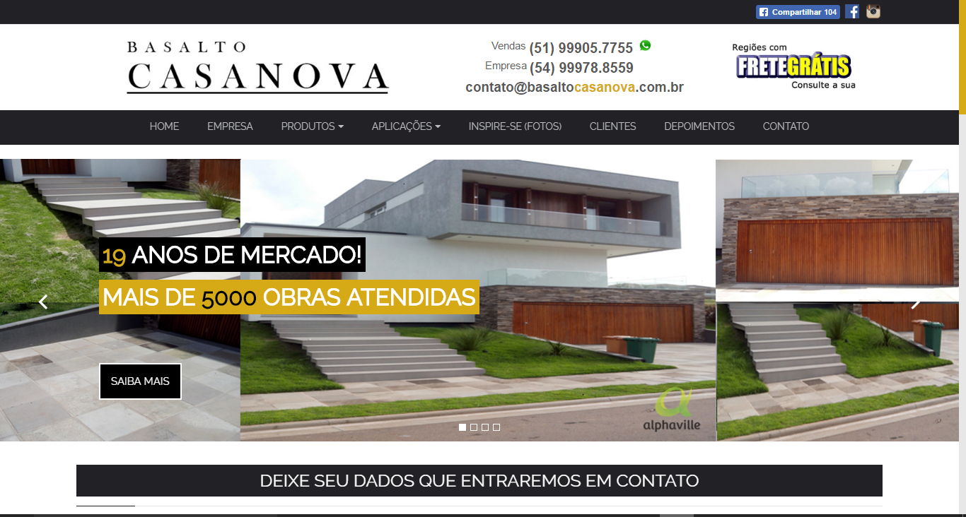 Projeto Basalto Casa Nova