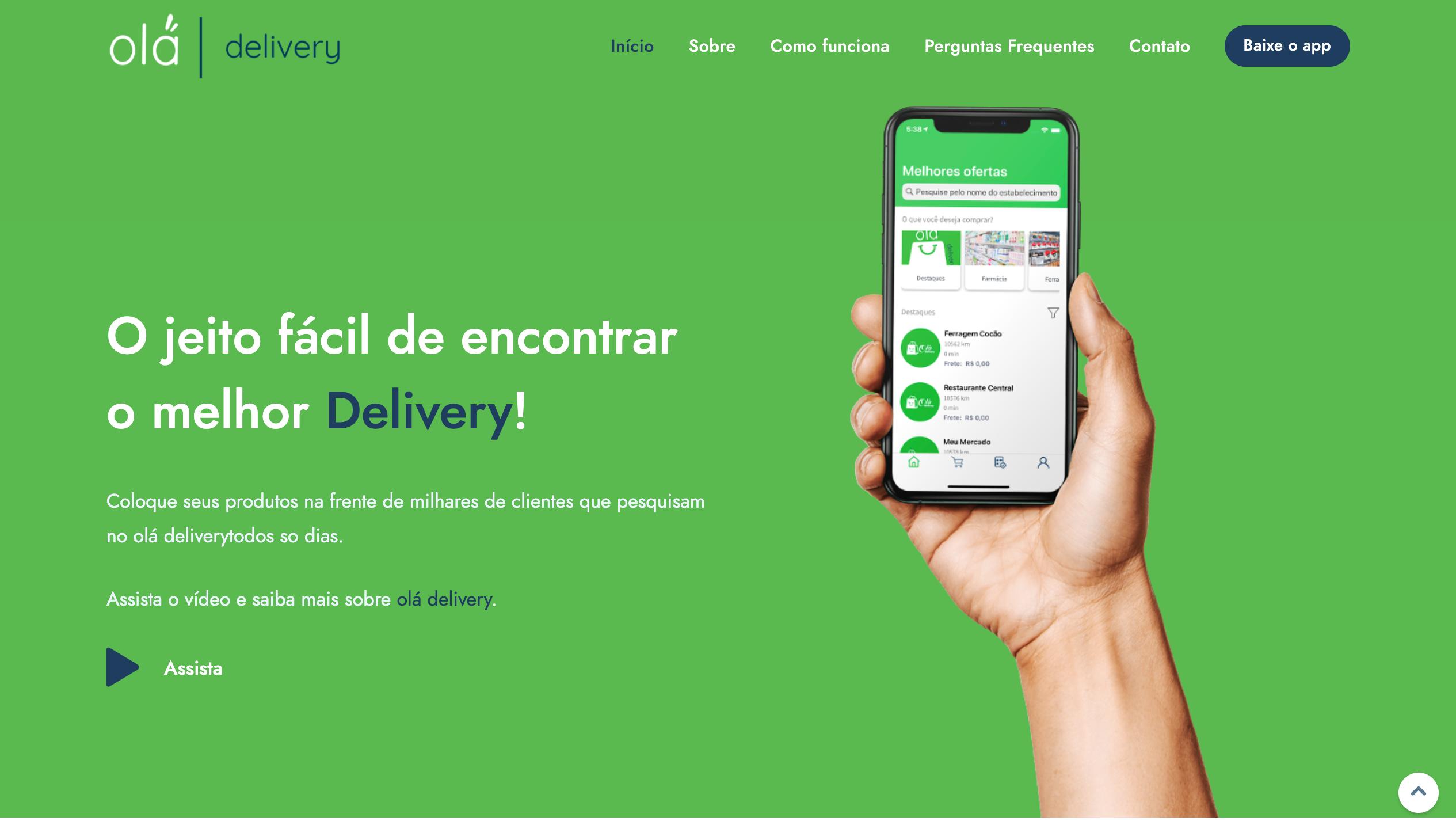 Projeto Olá Delivery