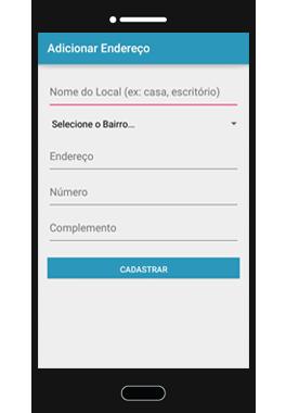 Adicionar Endereço App5M Delivery