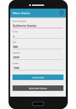Editar Dados App5M Delivery